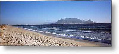 Sea With Table Mountain Metal Print