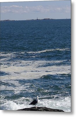 Metal Print featuring the photograph Seabreeze. by Robert Nickologianis