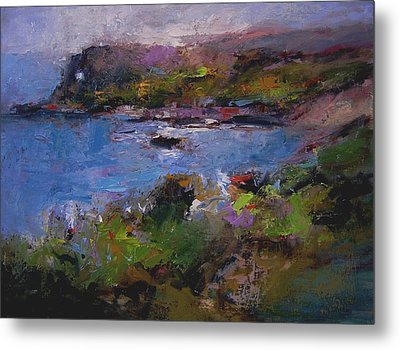 Seacave Point Metal Print by R W Goetting