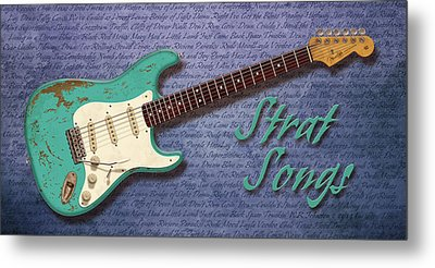 Seafoam Strat Songs  Metal Print