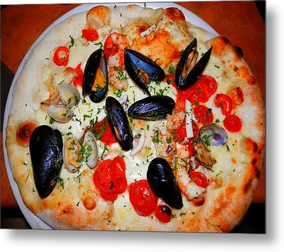 Seafood Pizza Metal Print
