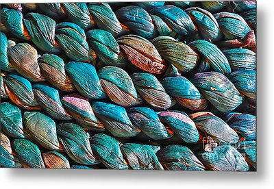 Seagrass Blue Metal Print by Linda Bianic