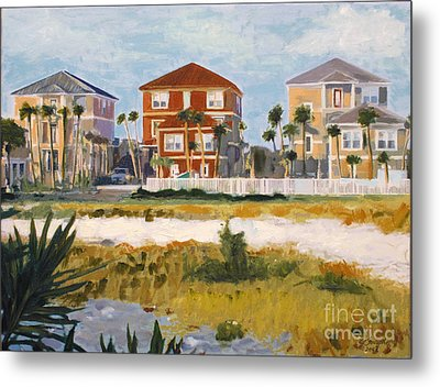 Seagrove Beach Houses Metal Print by Jeanne Forsythe