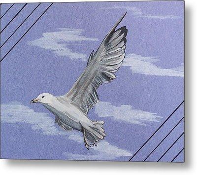Seagull Metal Print by Susan Turner Soulis