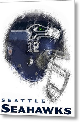 Seahawks 12 Metal Print by Daniel Hagerman