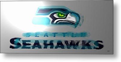 Seahawks 2 - Seattle Metal Print by Marcello Cicchini