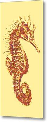 Seahorse- Left Facing Metal Print