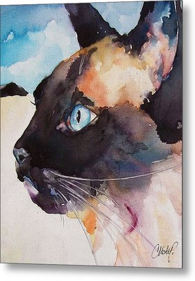 Seal Point Siamese Cat Metal Print by Christy  Freeman