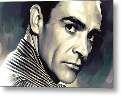 Sean Connery Artwork Metal Print by Sheraz A
