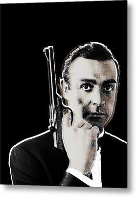 Sean Connery James Bond Vertical Metal Print