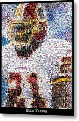 Sean Taylor Mosaic Metal Print by Paul Van Scott