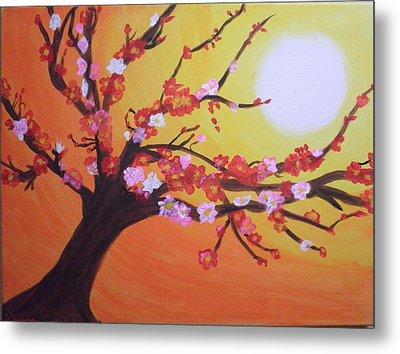 Sean's Apple Bloosom Tree Metal Print by Tami Farina