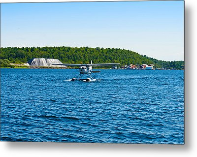 Seaplane In The Sea, Deep Bay, Parry Metal Print