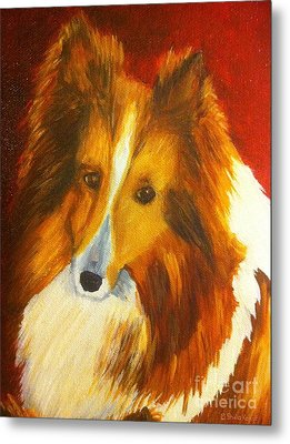 Metal Print featuring the painting Searcher by Shelia Kempf