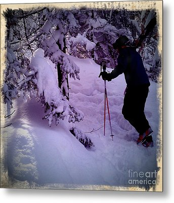 Metal Print featuring the photograph Searching For Powder by James Aiken