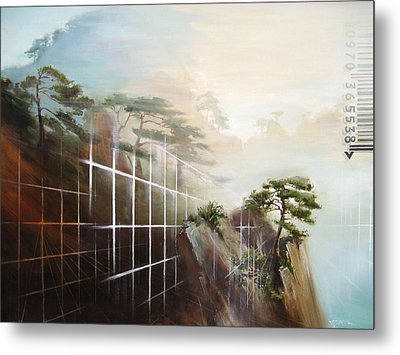 Metal Print featuring the painting Searching Huang Shan by Dave Platford