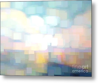 Seascape Abstracted Metal Print