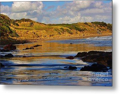 Seascape At Phillip Island Metal Print by Blair Stuart