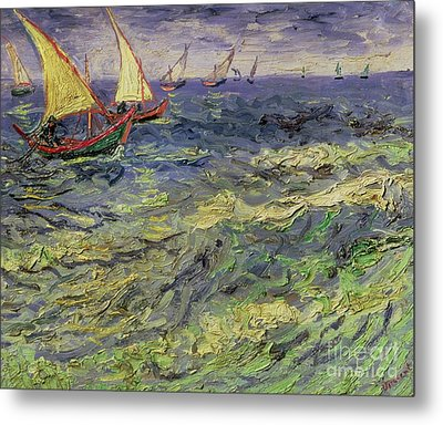 Seascape At Saintes-maries 1888 Metal Print by Vincent van Gogh
