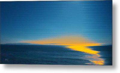 Seascape At Sunset Metal Print by Ben and Raisa Gertsberg