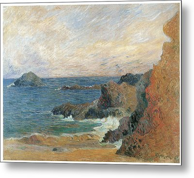 Seascape Metal Print by Paul Guaguin