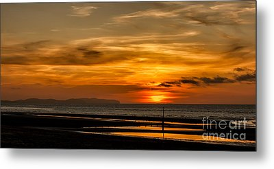 Seascape Sunset 2 Metal Print by Adrian Evans