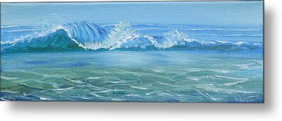 Seascape Wave IIi Metal Print by Trina Teele