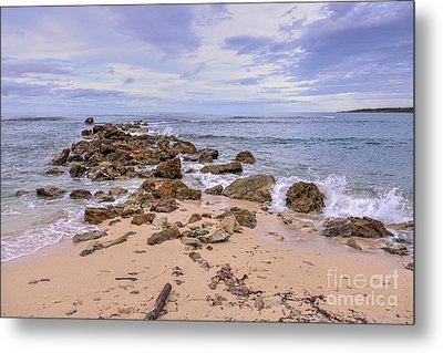 Metal Print featuring the photograph Seascape With Rocks by Jola Martysz