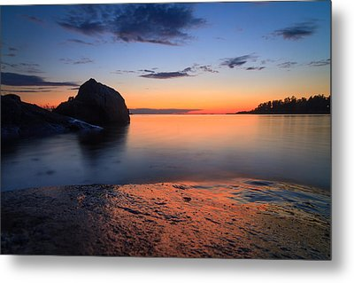 Seascape With Rocks Metal Print