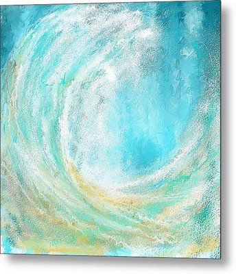 Seascapes Abstract Art - Mesmerized Metal Print by Lourry Legarde