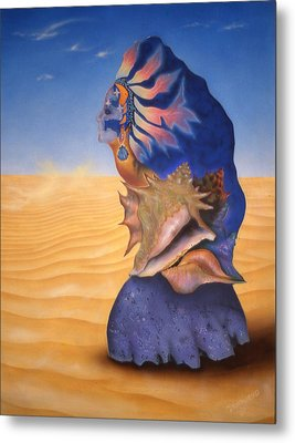 Seashell Girl Metal Print