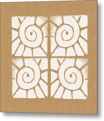 Seashell Tiles Metal Print