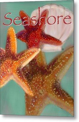 Seashore Poster Metal Print by Christine Fournier