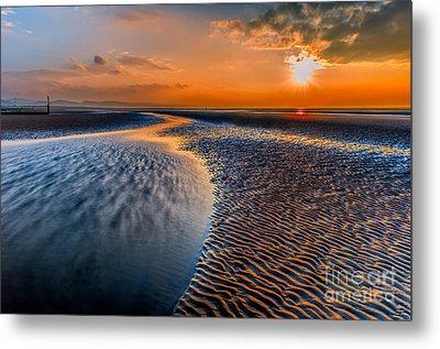 Seashore Sunset Metal Print by Adrian Evans