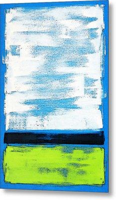 Seaside - Abstract Modern Art By Sharon Cummings Metal Print by Sharon Cummings