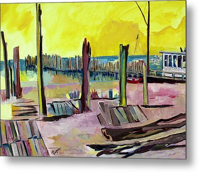 Metal Print featuring the painting Seaside by Betty Pieper