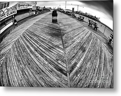 Seaside Distorted Metal Print by John Rizzuto
