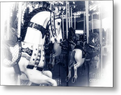 Seaside Heights Carousel Metal Print by John Rizzuto
