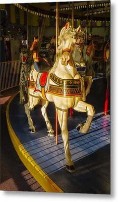 Seaside Heights Casino Pier Carousel  Metal Print