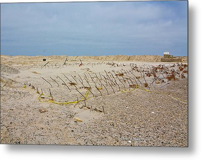Metal Print featuring the photograph Seaside Heights...beyond The Dunes. After Hurricane Sandy by Ann Murphy