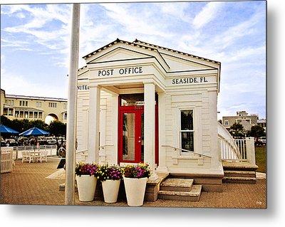 Seaside Post Office Metal Print by Scott Pellegrin