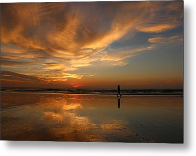 Seaside Reflections Metal Print by Christy Pooschke