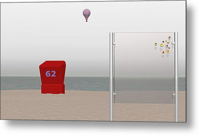 Seaside Stillness Metal Print