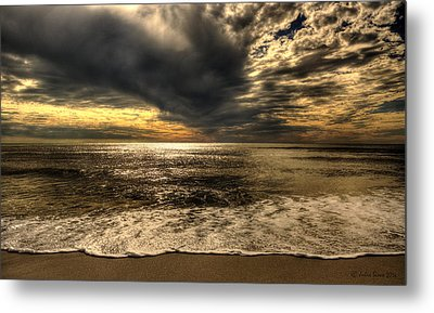 Metal Print featuring the photograph Seaside Sundown With Dramatic Sky by Julis Simo
