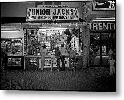 Seaside Union Jacks Metal Print by David Riccardi
