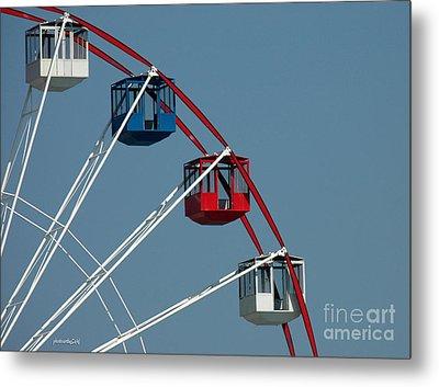 Seaside's Ferris Wheel Metal Print by Sami Martin
