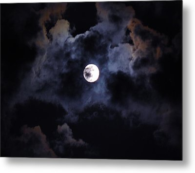 Seasonal Blue Moon IIi Metal Print by Anthony Thomas