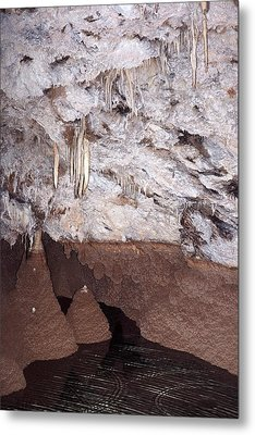Seasonal Floodline In A Cave Metal Print by David Parker