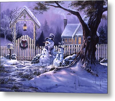 Season's Greeters Metal Print by Michael Humphries