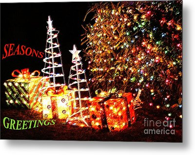 Metal Print featuring the photograph Seasons Greetings Card by Gary Brandes